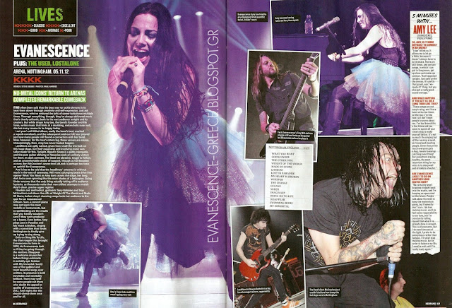 Kerrang Evanescence Nottingham Arena London