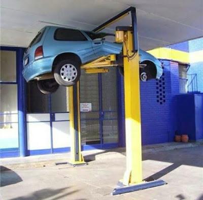 Voiture abimée chez le garagiste, direction la casse !