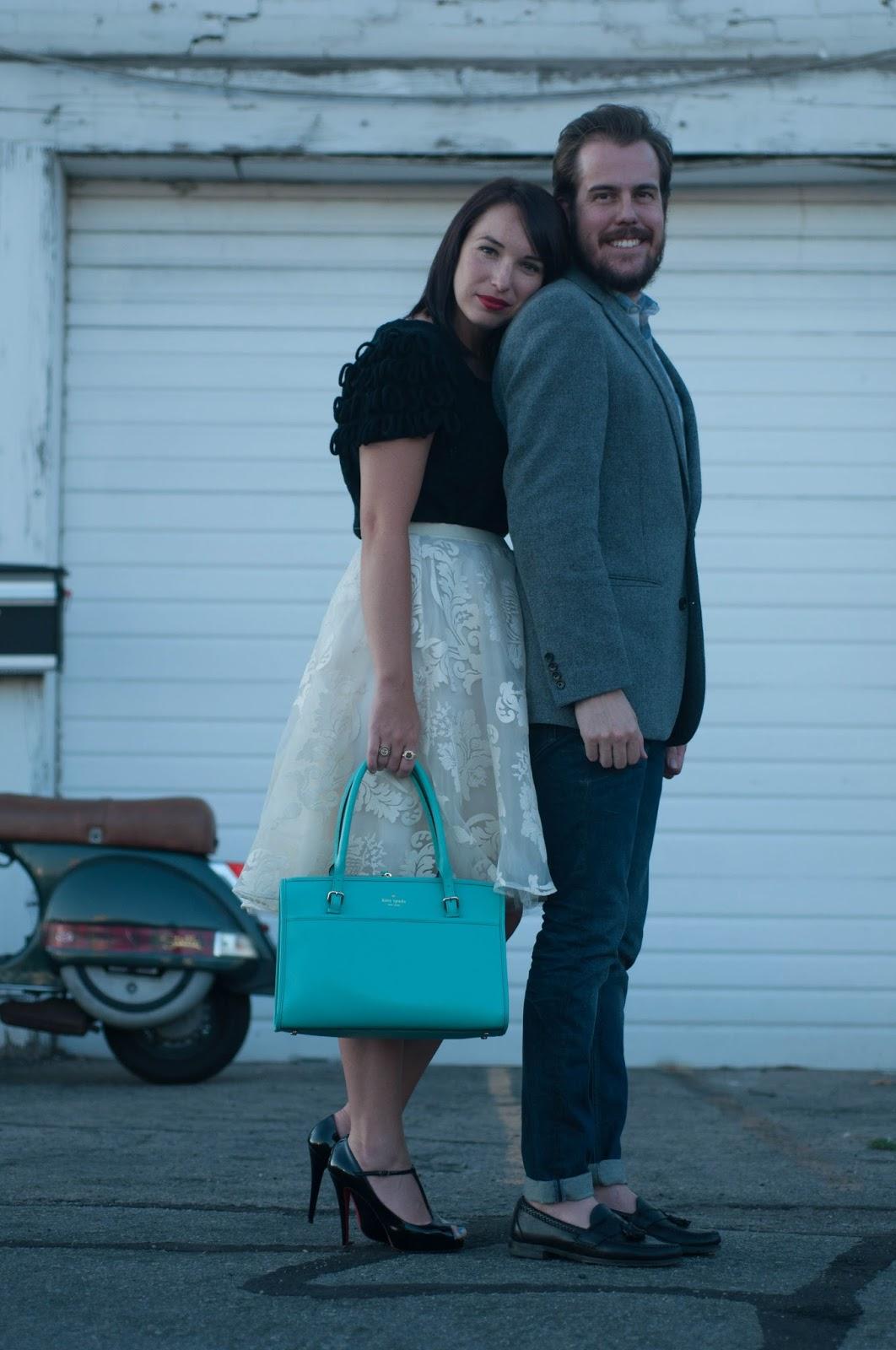 couples fashion, couples style, anthropologie ootd, kate spade handbag, wiw, kelsey bang