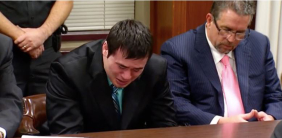 Serial Rapist Cop Daniel Holtzclaw weeps - as you can be sure all of his victims did.