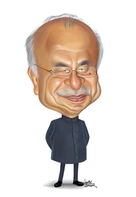 Sushilkumar Shinde Home Minister of India - Cartoon