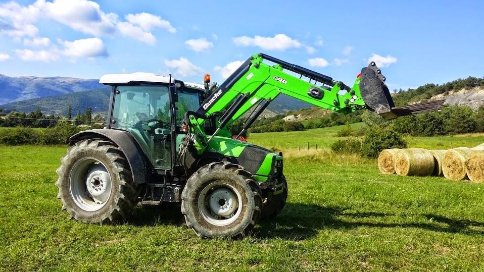 Gaec 1000 moutons vends tracteur deutz agrofarm ttv 430 - Tracteur avec fourche ...