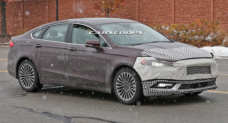 2017 Ford Fusion Scooped With Less Camo Ahead Of Detroit Debut