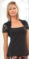 EziBuy Capture Lace Bolero Top in black @ Indivdiual Chic