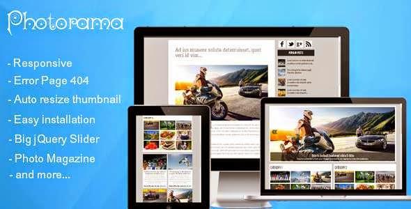 Photorama - Responsive Photo Magazine
