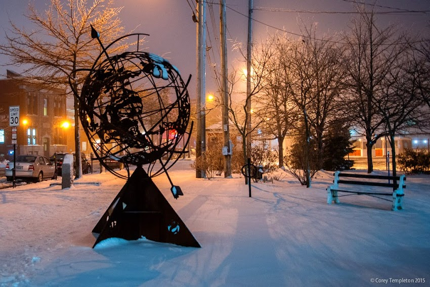 Untitled-Armillary by Patrick Plourde in Portland, Maine January 2015 photo by Corey Templeton