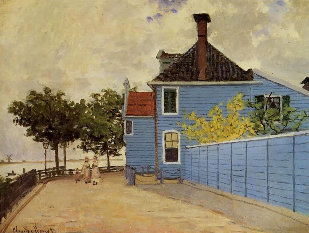 art artists claude monet part  claude monet 1871 the blue house at zaandam oil on canvas