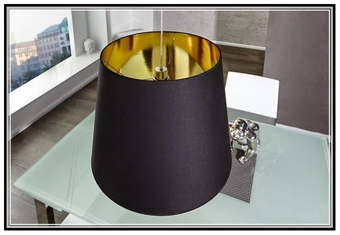 Gold Lamp With Black Shade Lamps Image Gallery
