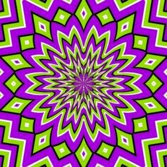 ilusiones opticas, movimiento, estrella absorbente, efectos visuales, ilusiones ópticas,