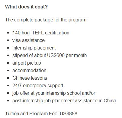 TEFL Job Review: TEFL Internships in China