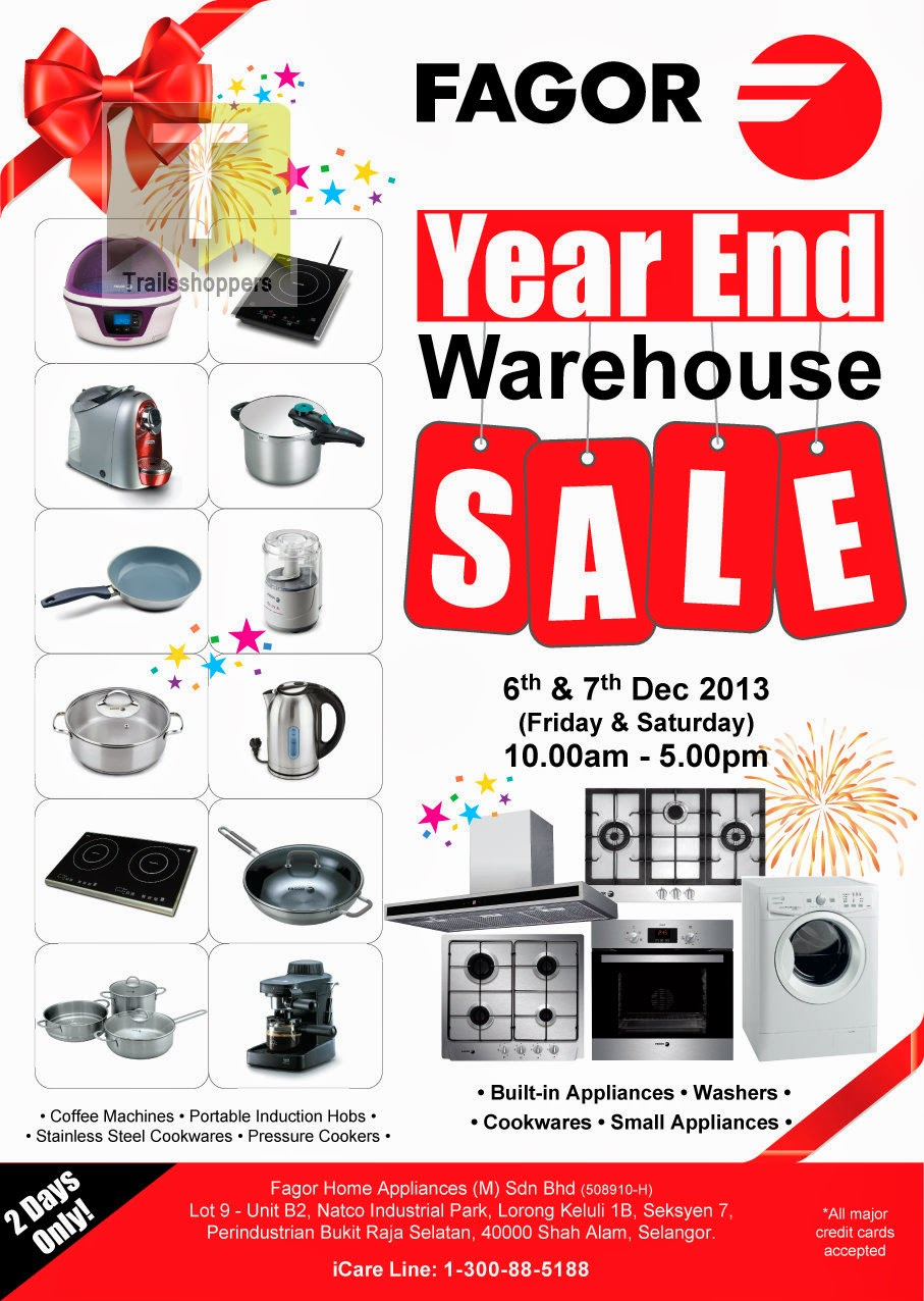 Fagor Year End Warehouse Sale 2013