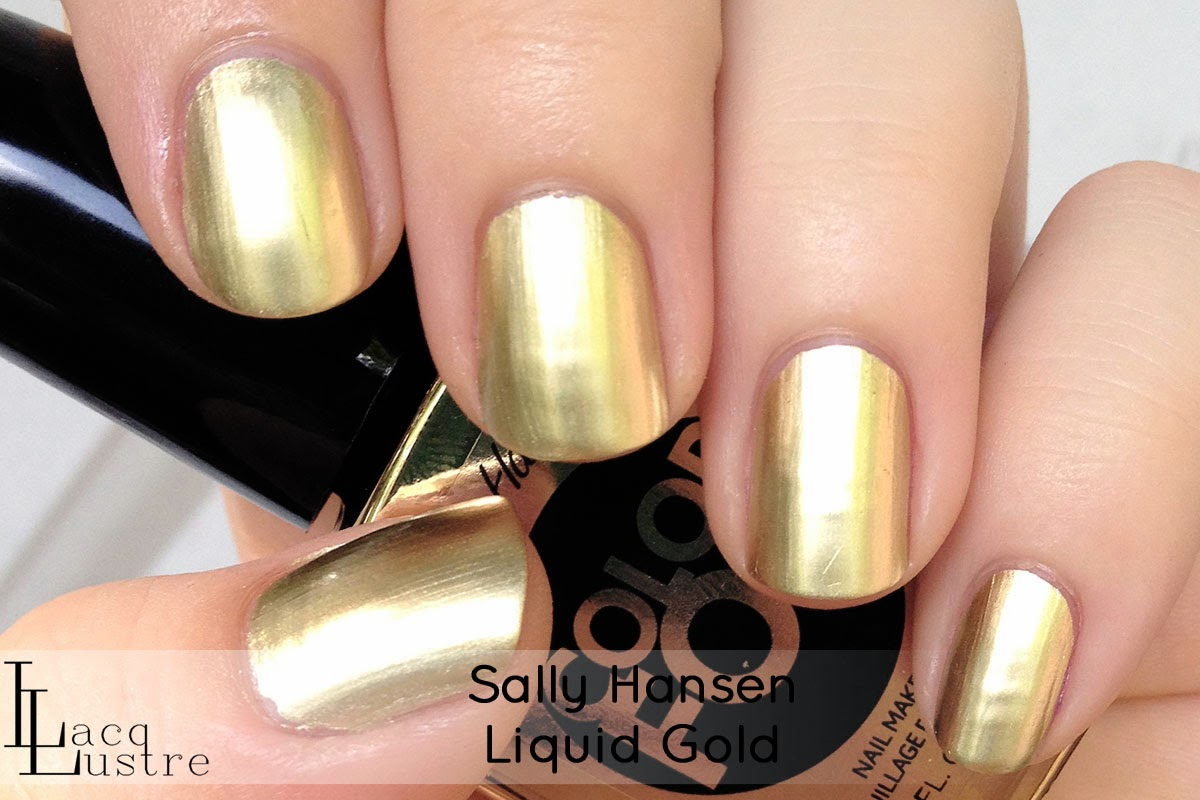 Sally Hansen Liquid Gold swatch