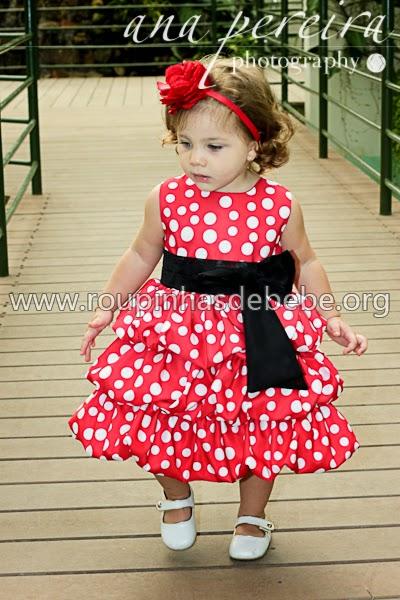 vestido para criança vermelho
