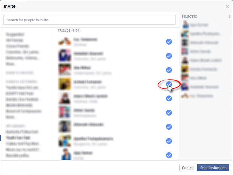 how to determine which friends go on your facebook page