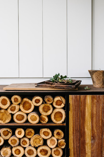 using wood in the home as decor