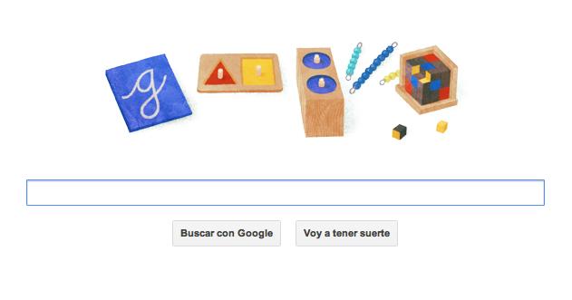 Google homenajea con su doodle a la pedagoga María Montessori