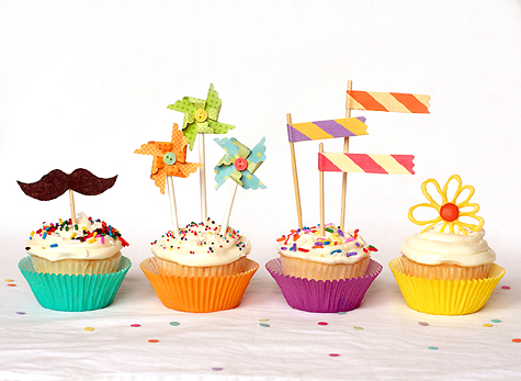 diy cupcakes toppers