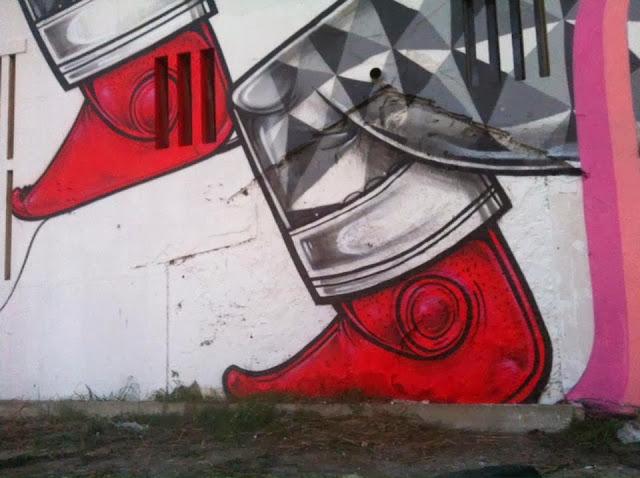 New Street Art Mural By How & Nosm For Underdgos in Lisbon, Portugal. 4