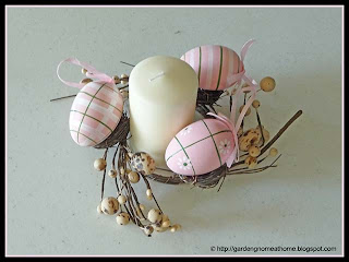 quick and easy Easter table decoration