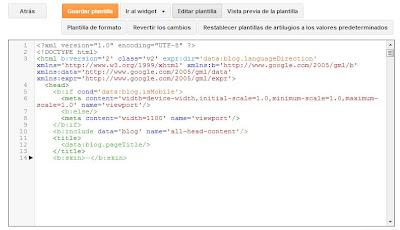 versión HTML de plantilla