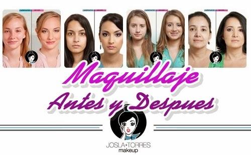 Maquillajes antes y despues por Joslami Torres