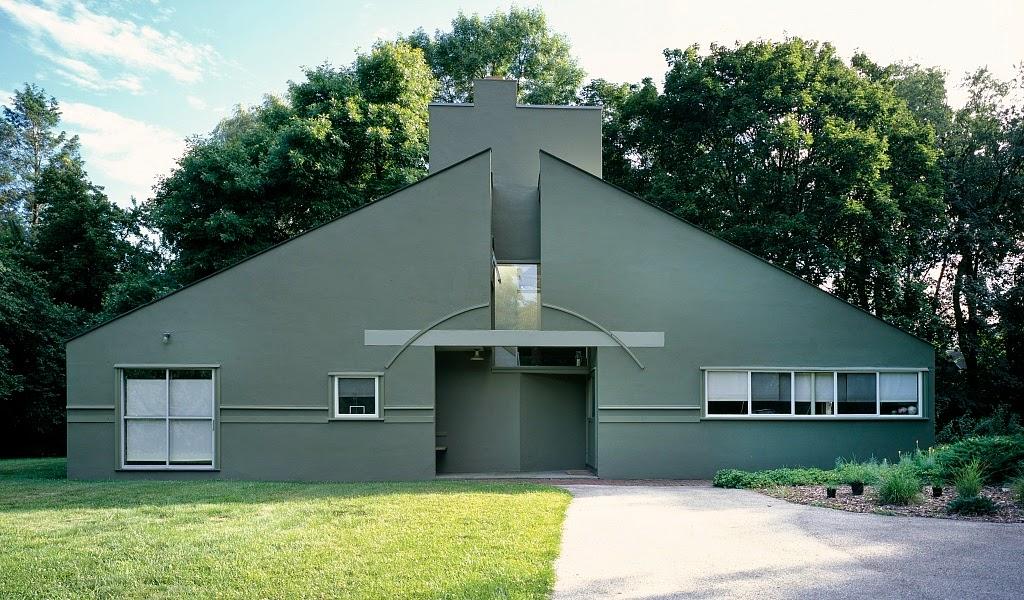Vanna Venturi House mở ra giai đoạn kiến trúc Hậu hiện đại