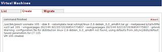 Log OpenVZ di Proxmox