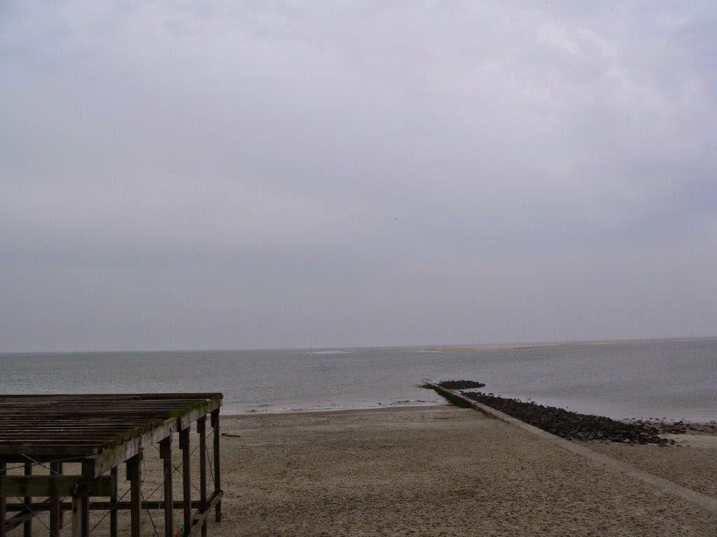 Wochenende Winter Urlaub Insel  Strand Steg Meer