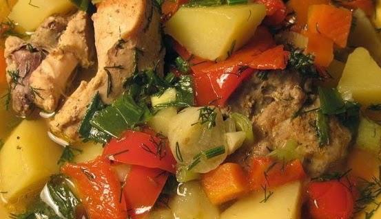 Овощное рагу с мясом говядины рецепт 50
