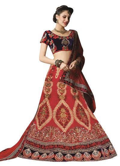 Red Bridal Wear Lehenga Suits