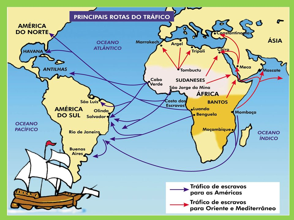 Resultado de imagem para rota dos navios negreiros