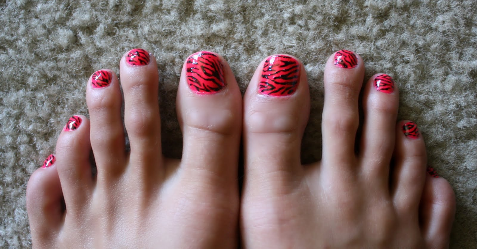 Tails To Tell Zebra Print Nails