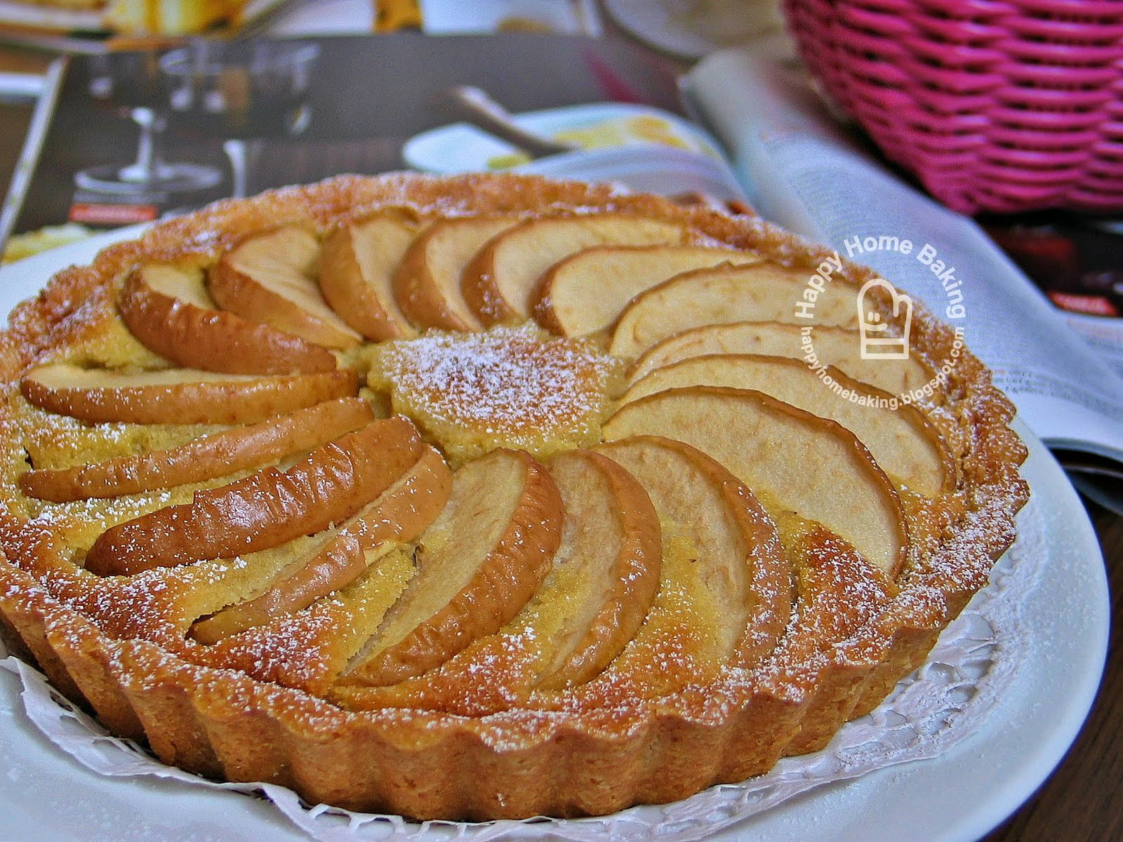 one who did most of the talking apple frangipane tart
