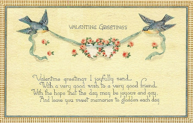 Antique Valentine Postcard-Royalty free-printable-via knickoftimeinteriors.blogspot.com