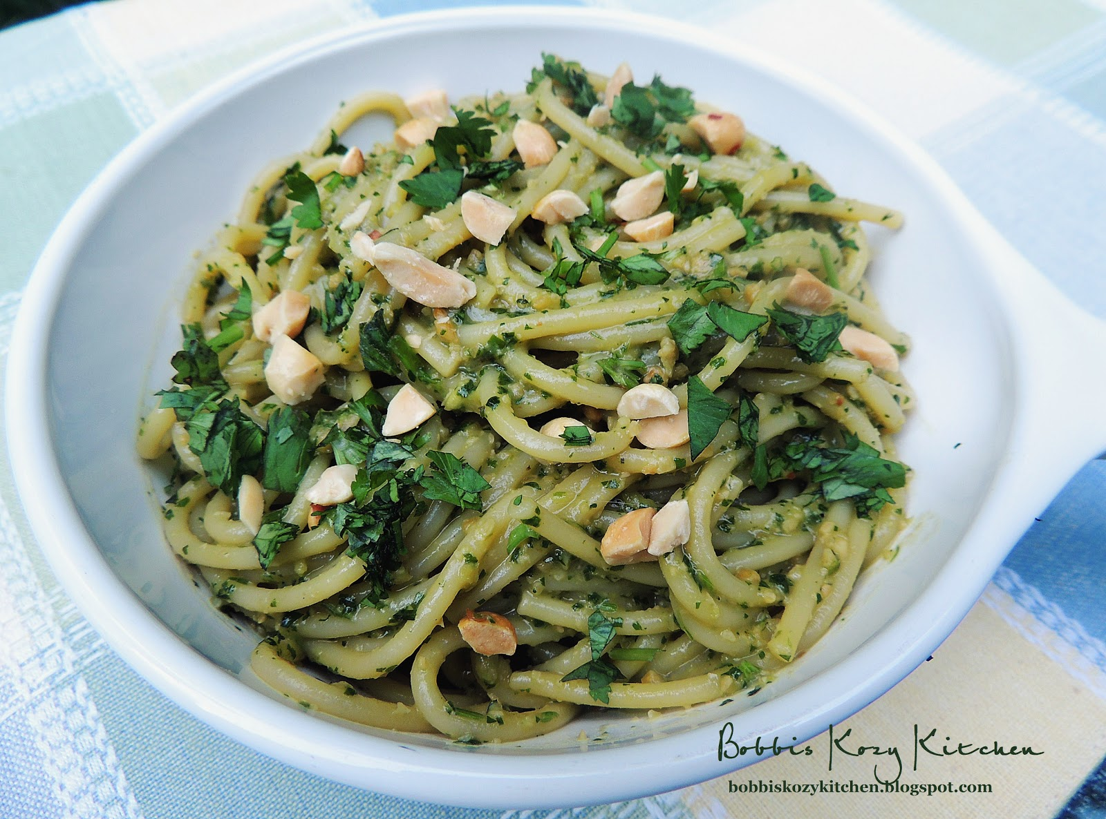 Cilantro Pesto Pasta | Bobbi's Kozy Kitchen