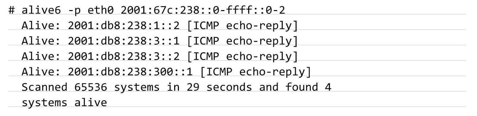 alive6 - перебор пула DHCPv6