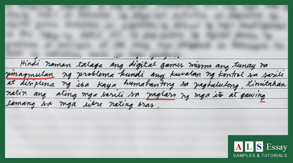 thesis statement tagalog version
