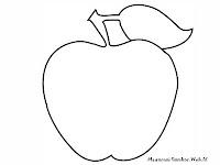Gambar Mewarnai Apel