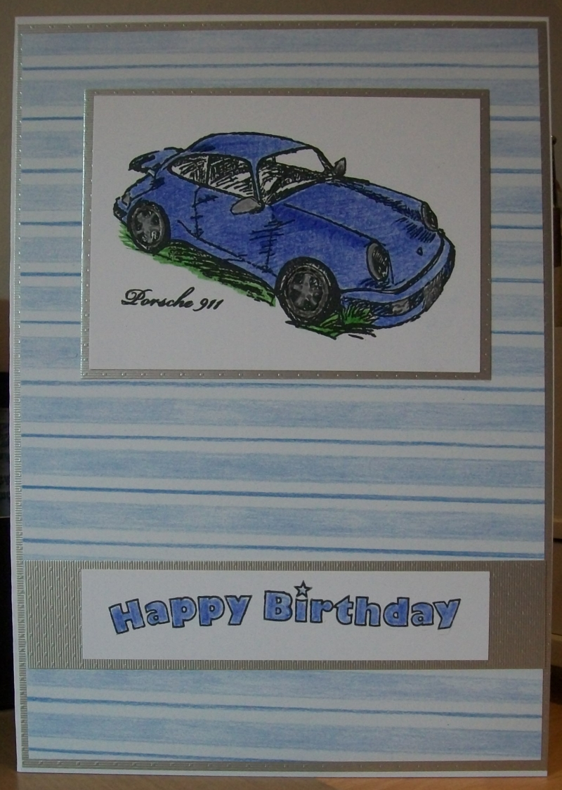 Porsche 911 birthday card. Stamp image - Classic Car collection by ...