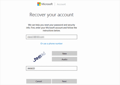 enter Windows 10 Microsoft account