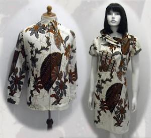 a35 Model baju batik wanita pria couple sarimbit anak modern terbaru