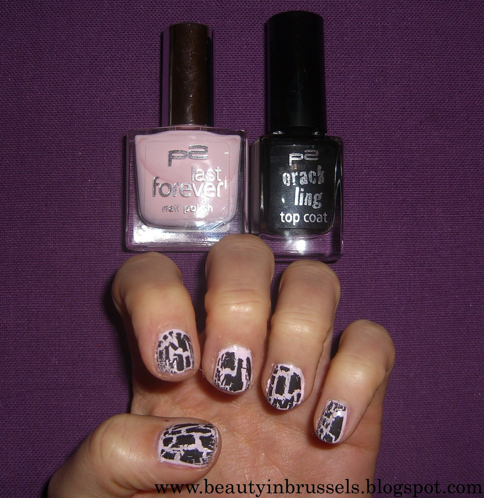 Beauty In Brussels P2 Last Forever Nail Polish + P2 Crack Ling Top Coat