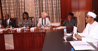 Christine Lagarde with President Buhari