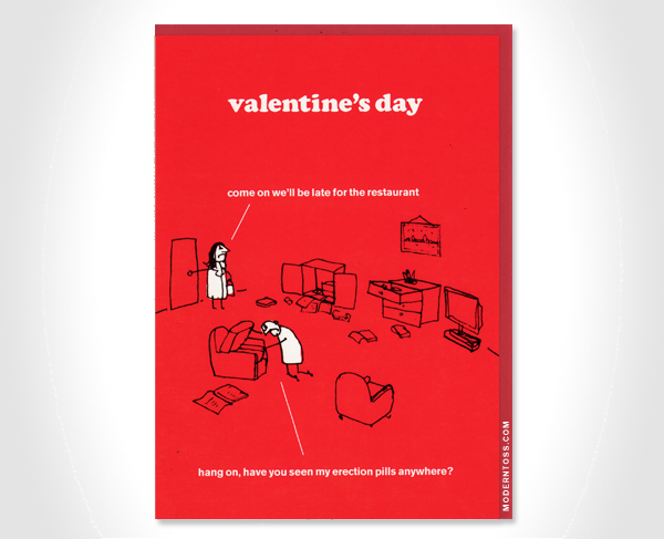 Modern Toss Valentines Cards