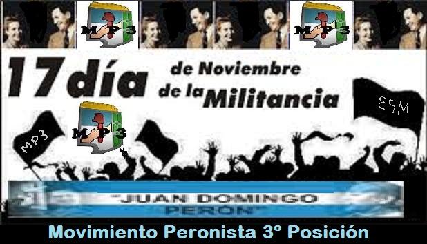 17 de noviembre Día de la Militancia
