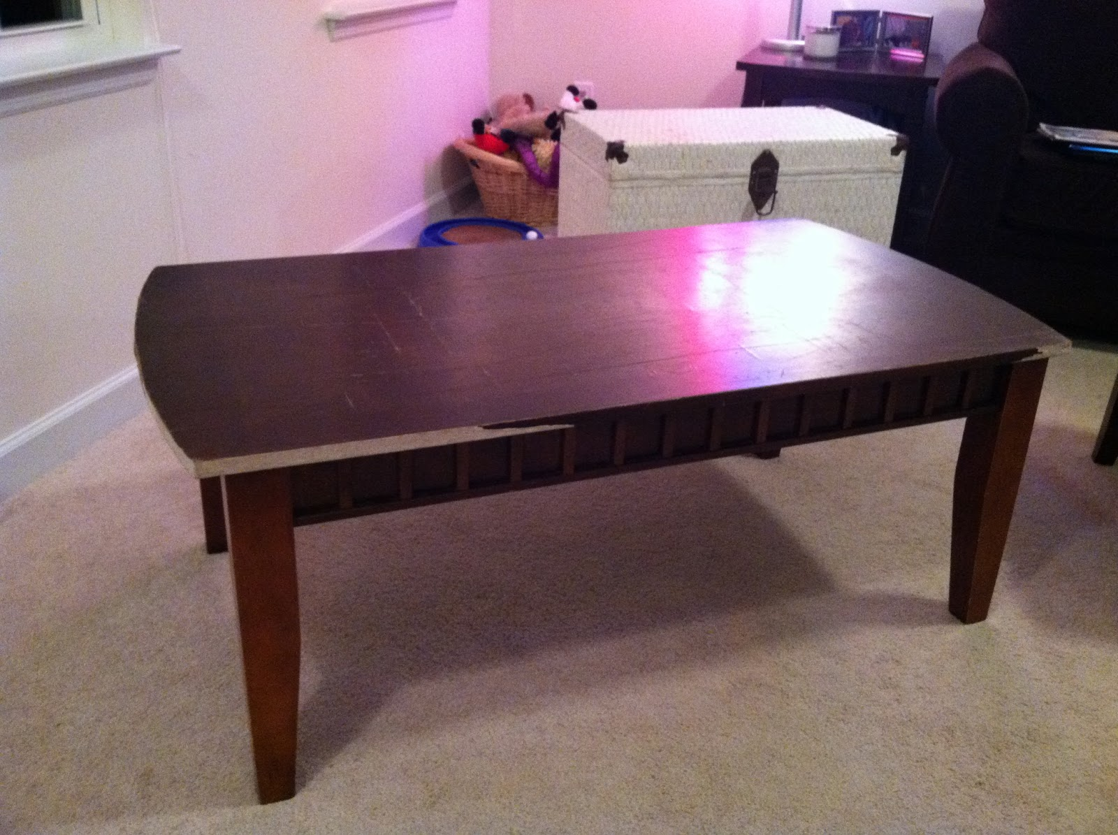 meg joins the navy: diy coffee table into cushioned bench