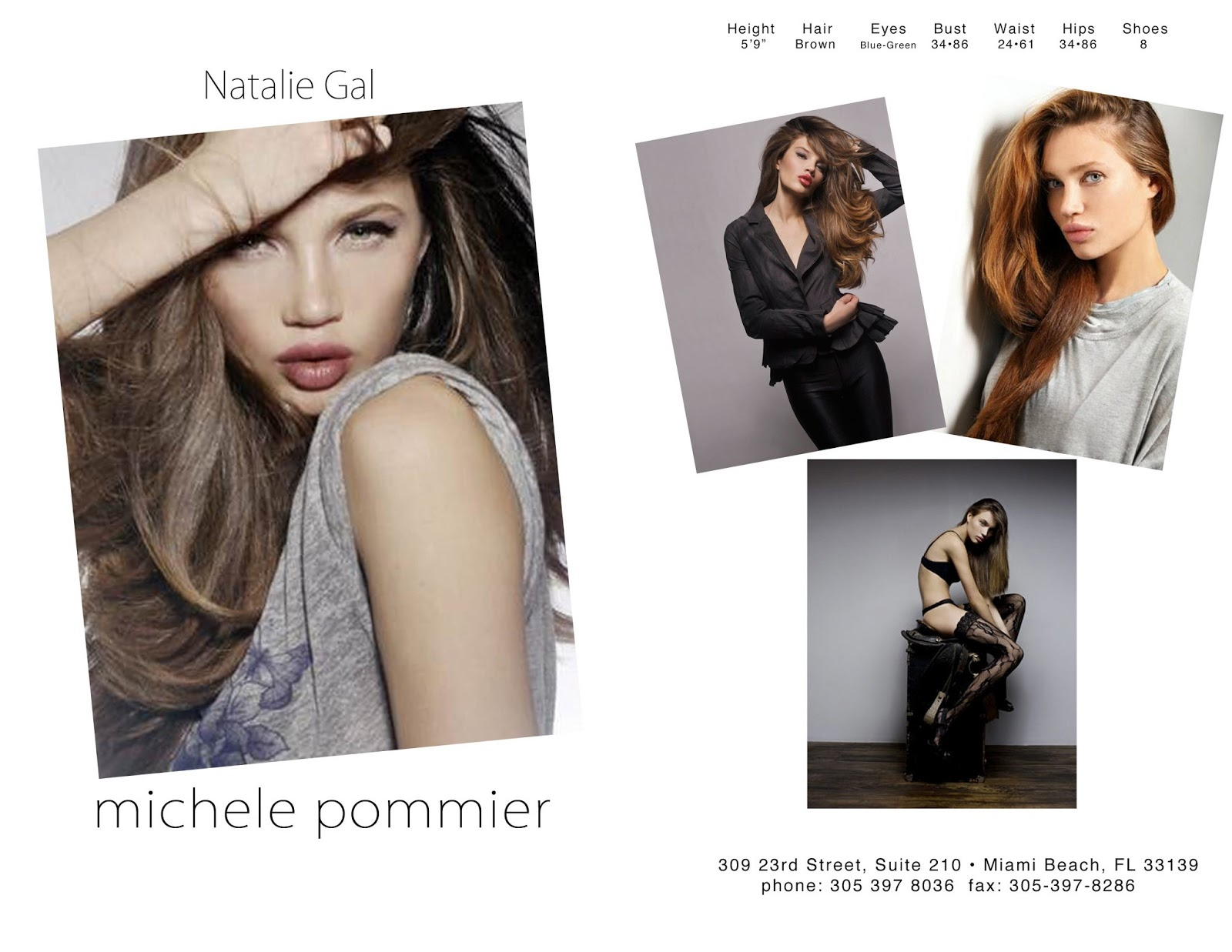 Natasha Galkina Natalie Gal: MY MODEL COMP CARD THEN AND NOW