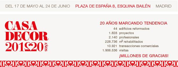 20 años de Casa Decor Madrid 2012- Del 17 de mayo al 24 de junio