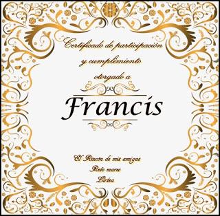 Diploma de El Rincón de mis Amigas