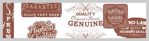Genuine Retro label EPS Vector